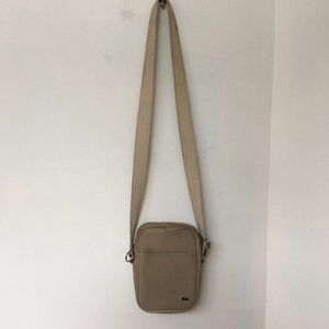 Lacoste bag Flat Crossover Tan Green Gator Small